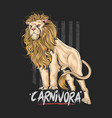 lion leo carnivora artwork vector image