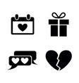 love simple related icons vector image vector image