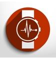 medical watch web icon vector image vector image