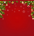 merry christmas card with christmas toys vector image vector image