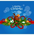 Merry Christmas card with mulled wine vector image