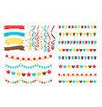 multicolor garlands flags and pennant vector image vector image