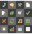 Online shopping website iconset color flat vector image