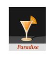 paradise cocktail menu item or any kind of design vector image vector image