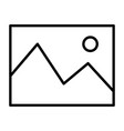 picture line icon simple minimal 96x96 pictogram vector image vector image