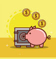 piggy bank money vector image