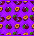 plum fruit seamless pattern hand-drawn plum on an vector image