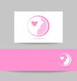 pregnant woman logo vector image vector image