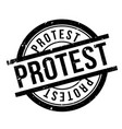 protest rubber stamp vector image vector image