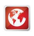 red emblem earth planet icon vector image vector image