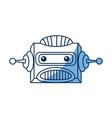 robot head electronic antenna machine vector image