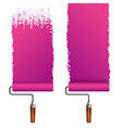 roller for painting different types vector image vector image