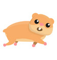 running hamster icon cartoon style vector image vector image