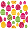 Seamless pattern with painted easter eggs vector image