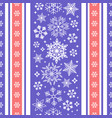 seamless ribbon with christmas snowflake pattern vector image