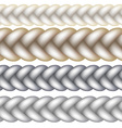 Seamless Woven Braid vector image vector image