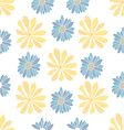 Seamless yellow flowers pattern vector image vector image