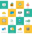 set finance and money icons vector image vector image