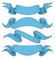 set of blue ribbon banners hand drawn sketch vector image vector image
