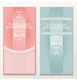 Set of vintage wedding invitations