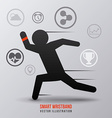 smart wristband vector image