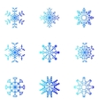 snowflakes Christmas and new year design element vector image vector image