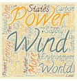 The Benefits Of Wind Power text background vector image vector image
