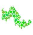 tilos greek island map mosaic of circles vector image vector image