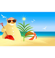 tropical snowman vector image vector image