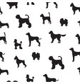 unusual seamless pattern with dog silhouettes set vector image vector image
