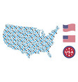 usa map collage of crossing swords vector image vector image