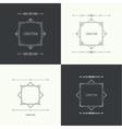 Vintage linear geometric frame vector image vector image
