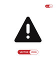 warning triangle icon error alert problem failure vector image