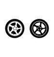 wheel clipart in white and black disks vector image