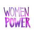 women power lettering vector image vector image