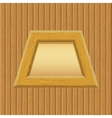 Wooden Framework with Paper on a Wall vector image vector image
