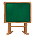 wooden school board vector image vector image