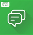 speech bubble icon business concept discussion vector image