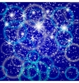abstract blue background with bokeh and particles vector image