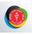 2020 sport games in japancolored circle and torch vector image vector image