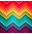 Abstract rainbow zig-zag warped stripes ethnic vector image vector image