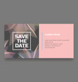 abstract save the date card vector image vector image