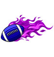 american football ball on white background vector image vector image
