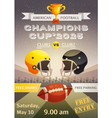 American Football Sport Poster vector image vector image
