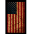 american grunge flag an american grunge flag for a vector image vector image
