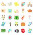application development icons set cartoon style vector image vector image
