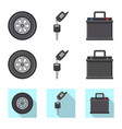 auto and part logo vector image