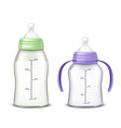 baby bottles isolated on background vector image vector image