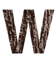 bark letter W vector image vector image