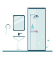 bathroom cover modern trendy design vector image